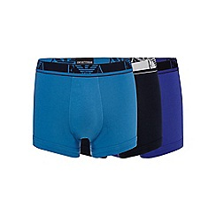 Emporio Armani - Pack of three purple stretch trunks