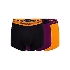 Emporio Armani - Pack of three orange stretch trunks