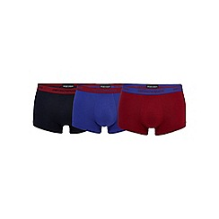 Emporio Armani - Pack of three navy stretch trunks