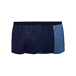 The Collection - Big and tall pack of three navy button boxers
