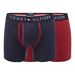 Tommy Hilfiger - Pack of two red and navy keyhole trunks
