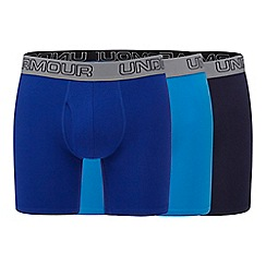 Under Armour - Pack of three blue boxer briefs