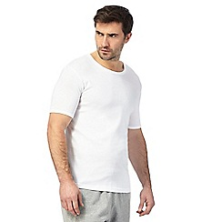 Debenhams - Big and tall white two pack t-shirts