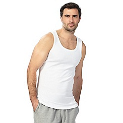 Debenhams - White two pack vests