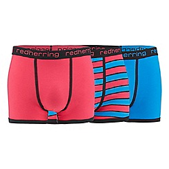 Red Herring - Pack of three pink and blue hipster trunks