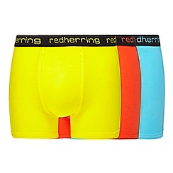 Red Herring - Pack of three assorted hipster trunks