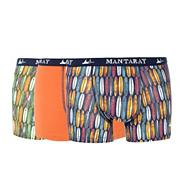 Pack of three surfboard printed hipster trunks