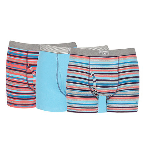 Mantaray - Pack of three grey striped hipster trunks