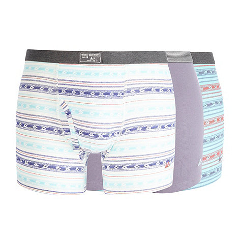 Mantaray - Pack of three light purple ikat striped trunks