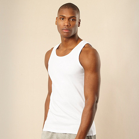 Thomas Nash - White crew neck tank top