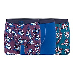 Mantaray - Big and tall pack of three assorted plain and printed keyhole trunks