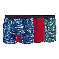 Mantaray - Big and tall pack of three assorted hipster trunks