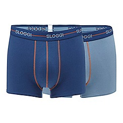Sloggi - Pack of two blue hipster trunks