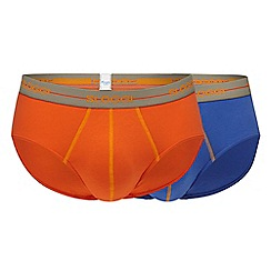 Sloggi - Pack of two orange and purple midi briefs