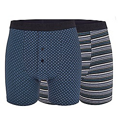 RJR.John Rocha - Big and tall pack of two multi-coloured boxer shorts
