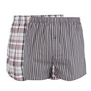 Pack of two grey checked boxers