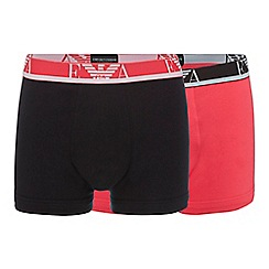 Emporio Armani - Pack of two pink and black trunks