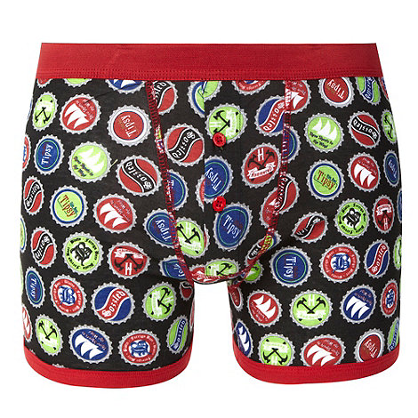 Red Herring - Red bottle top print boxer shorts