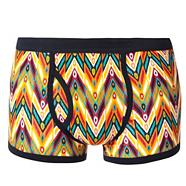 Orange graphic tribal patterned trunks