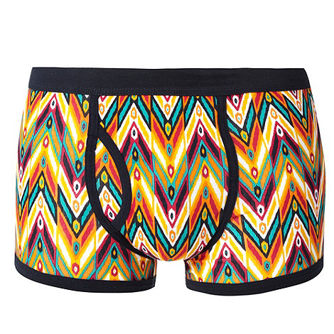 Red Herring - Orange graphic tribal patterned trunks