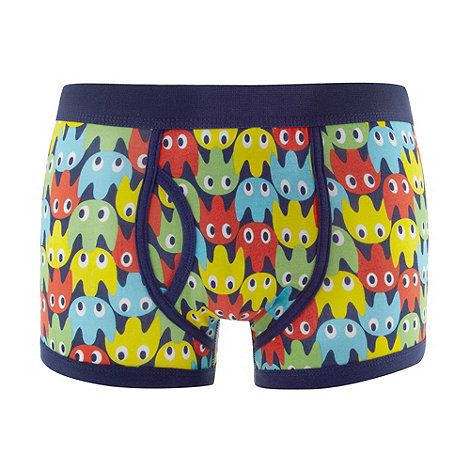 Red Herring - Navy bright ghosts printed trunks