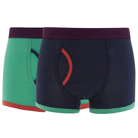 Red Herring - Pack of two green and navy keyhole trunks