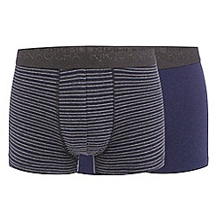RJR.John Rocha - Pack of two navy hipster trunks