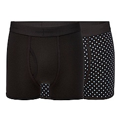 J by Jasper Conran - Pack of two black geometric print trunks