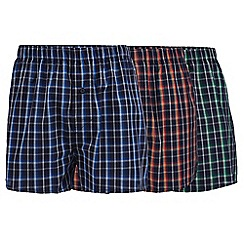 The Collection - Pack of three assorted checked boxers