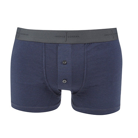 J by Jasper Conran - Navy fine striped two button boxers