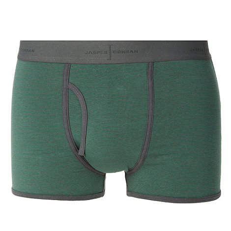 J by Jasper Conran - Designer green fine striped trunks