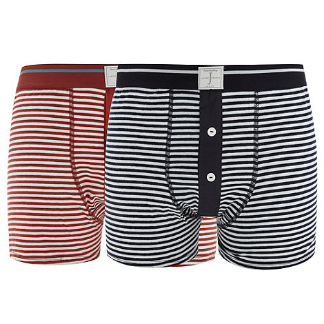 J by Jasper Conran - Designer pack of two breton striped boxers