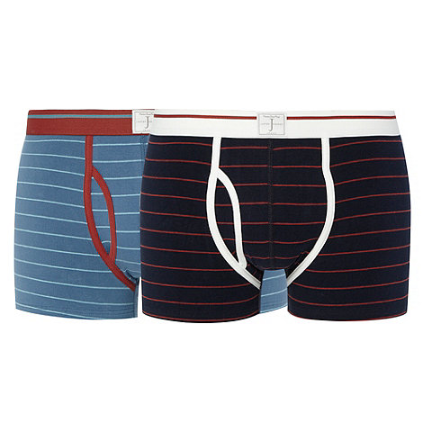 J by Jasper Conran - Designer pack of two narrow stripe trunks