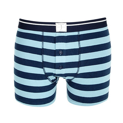 J by Jasper Conran - Designer navy striped buttoned boxer shorts