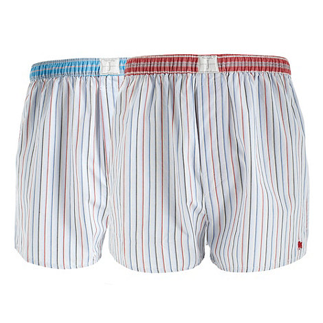 J by Jasper Conran - Designer pack of two blue woven boxers