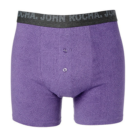 RJR.John Rocha - Designer purple graphic circle cotton stretch boxers