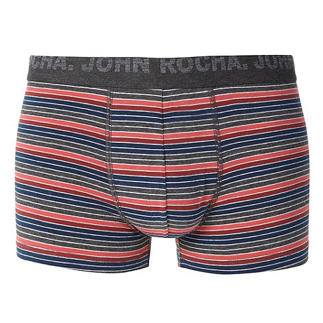 RJR.John Rocha - Designer peach block striped hipster trunks