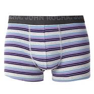Designer purple block striped hipster trunks