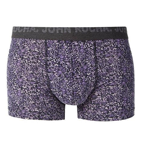 RJR.John Rocha - Designer purple floral hipster trunks