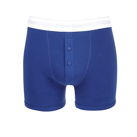 Calvin Klein Underwear - Dark blue cotton button boxer briefs