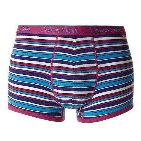 Calvin Klein Underwear - Pink graphic striped trunks