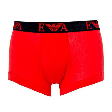 Emporio Armani - Red woven logo boxer briefs