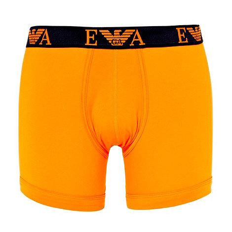Emporio Armani - Orange woven logo boxer briefs