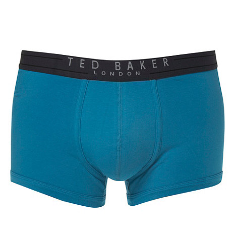 Ted Baker - Bright turquoise organic cotton blend boxers