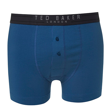Ted Baker - Bright blue organic cotton stretch boxers