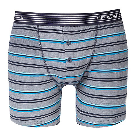 Jeff Banks - Designer navy multi striped boxers