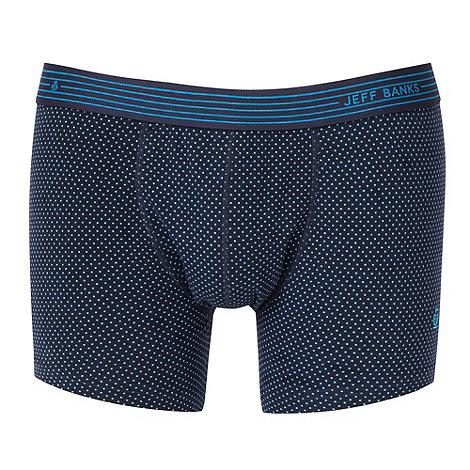 Jeff Banks - Designer navy spotted hipster trunks