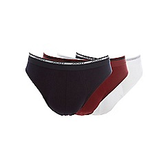 Jockey - Pack of three white navy and red slips