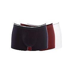 Jockey - Pack of three black white and red trunks
