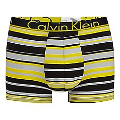 Calvin Klein - Yellow 'ID' stripe trunks
